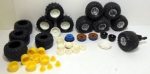 Lot of 1 24 or 1 25 Plastic Model Monster Truck Tires Wheels