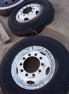 "2 10 Hole Lug Truck Wheels Split Rim 20"" Semi Big Truck Tires Hold Air Tubes"