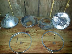 Headlight Assembly 1979 Chevy GMC Truck Bezel Springs