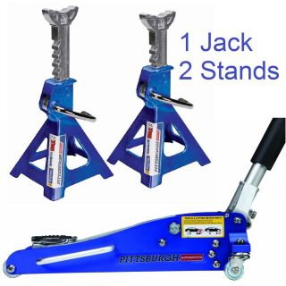 1 5 Ton Car Low Profile Rapid Compact Aluminum Racing Floor Jack w 3 Ton Stands