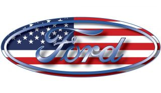 Ford Oval Emblem American Flag USA Car Wall Window Removable Sticker Decal