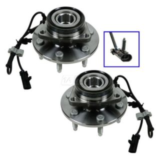 Front Wheel Hub Bearing Pair Set of 2 for Chevy Pickup Truck 4WD 4x4 w ABS