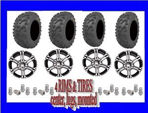 "Suzuki Eiger 400 26"" Kenda Bear Claw ATV Tires on 4 Alloy SS212 ITP Rims Wheels"