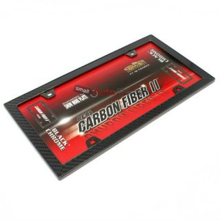 Carbon Fiber Black License Plate Tag Frame for Auto Car Truck
