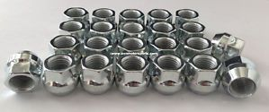Chrome Lug Nuts Wheel Chevy Silverado 1500 Truck Set of 24 Cone Seat Open 14x1 5