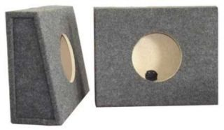 "Subwoofer Boxes 8"" Dual SEALED Split Pair Truck Boxes Partical Board"