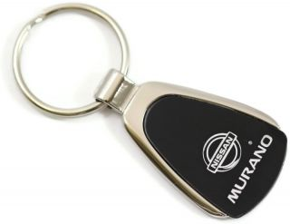 Nissan Murano Black Teardrop Authentic Logo Key Ring Fob Keychain Lanyard