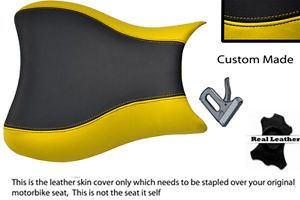 Black Yellow Custom Made 05 06 K5 K6 Suzuki GSXR 1000 Leather Front Seat Cover