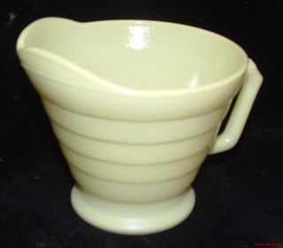 Vintage Depression Glass Hazel Atlas Moderntone Platonite Pastel Yellow Creamer