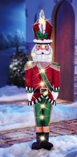 "44"" Lighted Santa Claus Holiday Lawn Yard Stake Outdoor Wall Christmas Decor New"