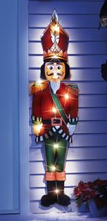 "44"" Lighted Nutcracker Holiday Lawn Yard Stake Outdoor Wall Christmas Decor New"