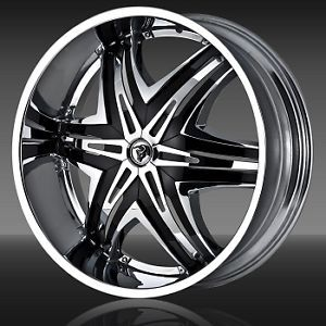 "24"" Diablo Elite Chrome Wheels Rims 305 45 24 Falken Tires 8 Lug Hummer H2"