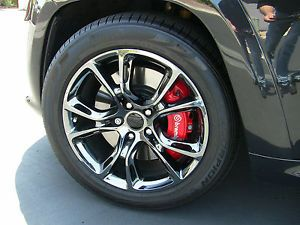 2014 Jeep SRT Black Vapor Chrome Wheel Set w Pirelli Tires