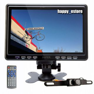 "L0649 Deal 9"" HD LCD Digital Car TV Monitor Antenna Stand Headrest FM New Camera"