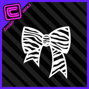 Zebra Bow Tie Girl Pink Cute Sexy Hello Kitty Car Decals Stickers