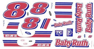 8 Jeff Burton Baby Ruth Ford 1 43rd Scale Slot Car Decals