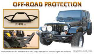 Front Rock Crawler Bumper Textured Black 2004 2006 Jeep Wrangler TJ Unlimited