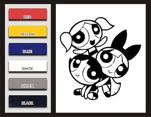 Powerpuff Girls Decal Vinyl Sticker Car Decal Window Blossom Buttercup Bubbles