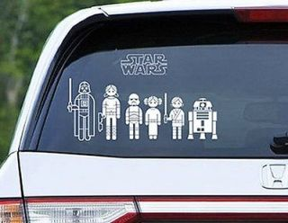 Star Wars Family Car Decals Build Your Own Family