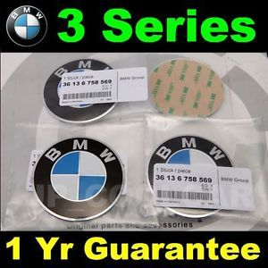 X4 BMW E46 E90 E91 E92 E93 M3 3 Series Wheel Center Cap Adhesive Emblem 70mm