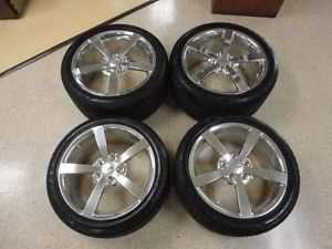 2008 2010 Corvette Wheels Rims Tires Goodyear Eagle F1 GS 2 EMT Polished Set