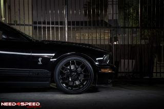 "20"" Ford Mustang Concave Matte Black Staggered Wheels Rims"
