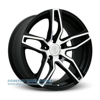 "20"" Lenso CQ4 Black Machined Rims Infinity Jaguar Lexus Wheels Tires"