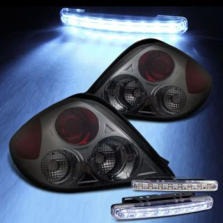 LED Bumper Fog Smoked 03 05 Tiburon altezza Tail Lights Rear Smoke Lamp Pair Set