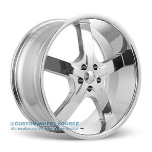 "20"" U2 55 Chrome Rims for Chrysler Chevrolet Dodge Ford Wheels"