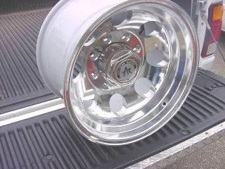 16x10 Polished Bajas' 8 Lug Ford Wheels Chevy Dodge Genuine American Racing