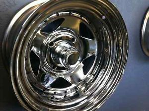 Volkswagen Wheels 4x130 Chrome Star 15x5 VW Includes Caps and Lugs 1 Wheel Sale
