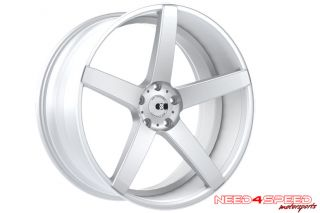 "20"" Ford Mustang GT XO Miami Concave Silver Staggered Wheels Rims"