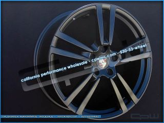 "VW Touareg 22"" inch Wheels Rims Matte Black 04 05 06 07 08 09 10 11 12 Cayenne"
