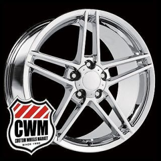 "18x8 5"" 19x10"" 2006 Corvette C6 Z06 Style Chrome Wheels Rims Fit C5 1999"