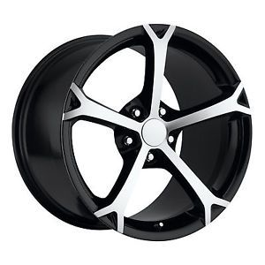 17x8 5 18x9 5 2010 Grandsport C5 C6 Corvette Camaro Wheels Rims Black Machined