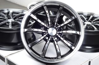 17 5x114 3 Black Rims Lexus Civic Avalon Camry Lancer Mazda 3 6 Infiniti Wheels