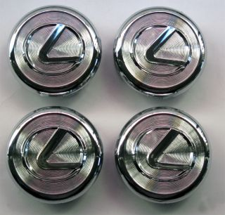4 Pcs Chrome Lexus Wheel Center Caps 62mm for IS300 ES330 GS300 430 LS430 RX350