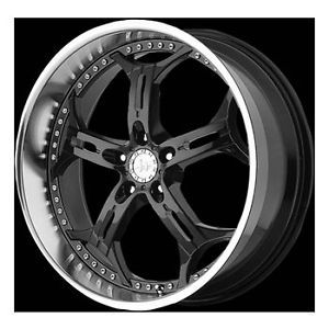 "18"" Helo 834 Wheel Set Black Rims 18x10 Staggered Toyota 5LUG Vehicles Mercedes"