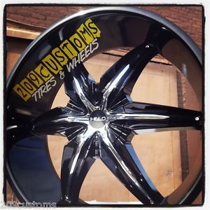 24 inch Black Rims and Tires