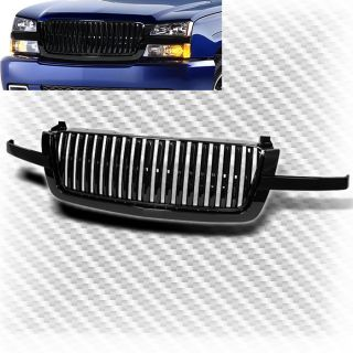 03 06 Chevy Silverado Black Front Sport ABS Plastic Grille Replacement Grill Set