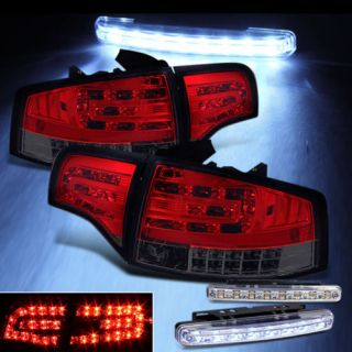 LED Bumper Fog 05 08 Audi A4 S4 B7 LED Tail Lights Lamps Rear Brake Light Set