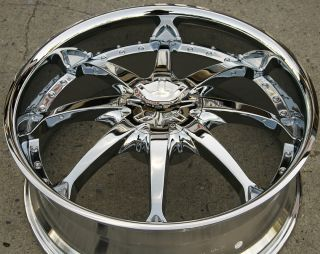 Helo 871 24 x 9 5 Chrome Rims Wheels Ford Crown Victoria 5H 15