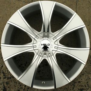 Helo 874 20 x 8 5 Silver Rims Wheels Chevrolet Trailblazer 02 09 6H 42
