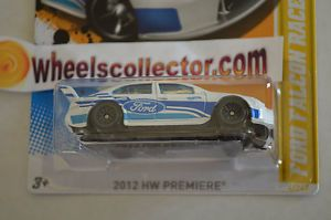Ford Falcon Race Car White 2012 Hot Wheels Variation Lace Rims