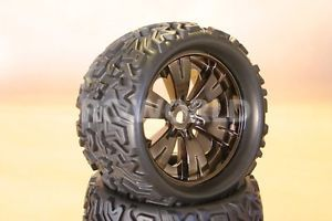 1 8 Monster Truck Rock Crawler Wheels Tires Package 17mm Traxxas Chrome New