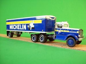 Michelin Tire Matchbox Dinky 1939 Peterbilt Tractor Trailer NIB