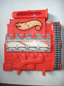 RARE Hotwheels Hot Wheels Vintage Car Display Storage Carry Case Red Engine