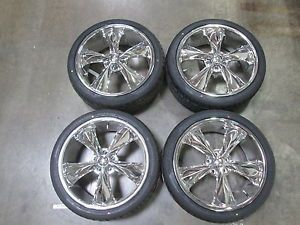 Chrome Mustang FOOSE Legend Wheel Sumitomo Tire Kit 20x8 5 05 14 GT V6