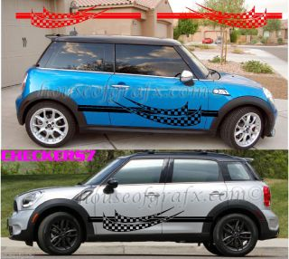 Universal Checkers Checkered Body Graphics Decals Fit Mini Cooper Countryman