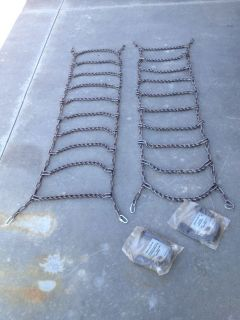 "Heavy Duty Tire Chains Snow Mud Truck Pickup 75""L x 19""w New"
